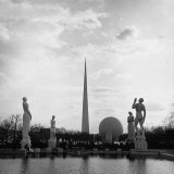 Statues Representing the Four Freedoms in Constitution Mall Photographic Print by David Scherman