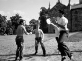 Group of Kenyon College Students Playing with Flying Disc, Design for Frisbee was Patented in 1948 Premium Photographic Print by Eliot Elisofon