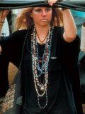 Robin Hallock, Leans Against Cables at Woodstock Music and Art Festival Fotografie-Druck von Bill Eppridge