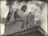 Guardian of Law, Statue Created by Sculptor James Earle Fraser Outside the Supreme Court Building Premium Photographic Print by Margaret Bourke-White