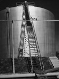 Oil Storage Tank at Standard Oil of Louisiana During WWII Premium Photographic Print by Andreas Feininger