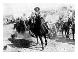 Mexican General Pancho Villa Riding with His Men after Victory at Torreon Photographic Print