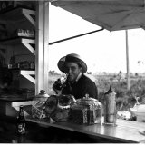 Young Man at Outdoor Food Stand Drinking a Coke Photographic Print by Arthur Rothstein