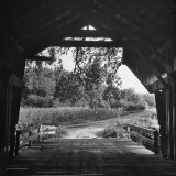 Covered Bridge Entrance Way Photographic Print by Bob Landry