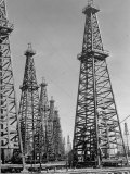 Oil Well Rigs in a Texaco Oil Field Photographic Print by Margaret Bourke-White