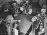 Peasants Drinking Beer in a Village Inn in the Ruthenia Section of the Country Premium Photographic Print by Margaret Bourke-White