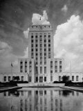 Exterior of City Hall in Houston Photographic Print by Dmitri Kessel