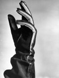 View Showing the New Type of Leather Glove Premium Photographic Print by Hansel Mieth