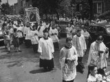 Clergy Members of Roman Catholic Churches in Procession Premium Photographic Print by Mark Kauffman