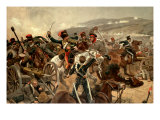 Illustration of the Charge of the Light Brigade at Balaclava During the Crimean War Photographic Print