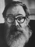 Portrait of Poet John Berryman with Full Beard Premium Photographic Print by Terence Spencer