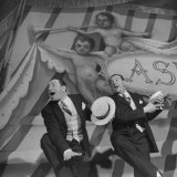 Actors Jack Diamond and Harry Clark Performing in Scene from Kiss Me, Kate Premium Photographic Print by Ralph Morse