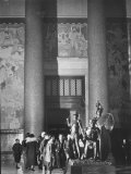 Roosevelt Memorial Hall, American Museum of Natural History, Dramatic Bronze Nandi Spearmen Premium Photographic Print by Margaret Bourke-White