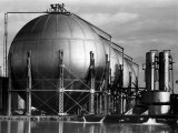 Storage Tanks at a Texaco Oil Refinery Photographic Print by Margaret Bourke-White