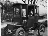 Mrs. F.A. Olds of Tacoma in the Electric Car She Has Driven for 25 Years Photographic Print