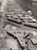 Construction Yard of Bethlehem Ship Building Corp. Where Frames and Bulkheads are Preassembled Photographic Print by Margaret Bourke-White