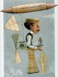 Illustration of Brazilian Aeronaut Alberto Santos Dumont from English Periodical Vanity Fair, Photographic Print