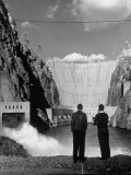 Sightseers Enjoying the Magnificent Power of Boulder Dam Premium Photographic Print by Alfred Eisenstaedt