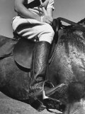 Polo Player Wearing Intricately Tooled Boots Photographic Print by Carl Mydans