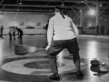 Men Curling with Mops and Brooms Premium Photographic Print by George Skadding