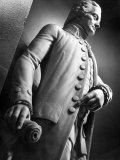 Sculpture of Early American Statesman John Hancock in Statuary Hall at the US Capitol Building Premium Photographic Print by Margaret Bourke-White