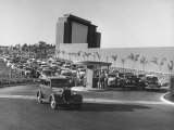 Cars Pouring into Main Entrance to Rancho Drive-In Theater, Lot Boys Amongst Cars Selling Tickets Premium Photographic Print by Allan Grant