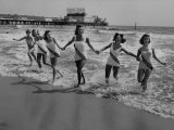 Miss America Candidates Playing in Surf During Contest Period Premium Photographic Print by Peter Stackpole