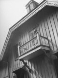 Balcony on the Rustic-Pointed Style Cottage of College Founder Matthew Vassar, Hudson River Valley Premium Photographic Print by Margaret Bourke-White