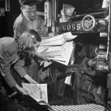 100th Anniversary Edition of Chicago Tribune Coming Out of Machine Photographic Print by George Skadding