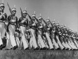 Student Body at Culver Military Academy Parading in Full Uniform at Garrison Review Premium Photographic Print by Alfred Eisenstaedt