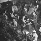Overall Shot of the 44 Linotype Machines in the Government Printing Office Photographic Print by Walter B. Lane