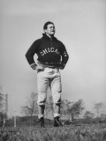 Sid Luckman of Chicago Bears Exercising before Practice Premium Photographic Print by William C. Shrout