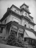 Exterior View of the Victorian-Style House of the Mansard Family in the Hudson River Valley Photographic Print by Margaret Bourke-White
