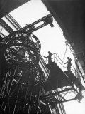 Astronomer Dr. Walter S. Adams Overseeing Placement of Steel Framework at Mt. Wilson Observatory Premium Photographic Print by Margaret Bourke-White