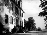 Exterior View of the Clermont Manor House, Owned by the Livingston Family, Hudson River Valley Premium Photographic Print by Margaret Bourke-White