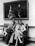Charles Pope, Track Star and Student Council President Sitting with Katherine Winne Photographic Print by Alfred Eisenstaedt