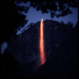 Firefall from Glacier Point at Yosemite National Park Photographic Print by Ralph Crane