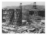 Construction of the Three Double-Chamber Locks that Comprise the Gatun Lock in the Panama Canal Photographic Print