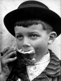 Portrait of a Handsome Young Czech Peasant Boy Dressed in His Best Sunday Clothes Reproduction photographique sur papier de qualité par Margaret Bourke-White
