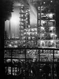Stand Oil of Baton Rouge Refinery Helps Make Rubber, High-Octane Gasoline and Explosives Photographic Print by Andreas Feininger