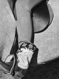 Polo Player Wearing Intricately Tooled Boots Premium Photographic Print by Carl Mydans