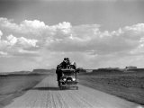 Disposed Family Traveling West Premium Photographic Print by Peter Stackpole