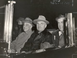 Newly Re-elected Pres. Franklin Roosevelt with VP Harry Truman Ride to the White House to Celebrate Premium Photographic Print by George Skadding