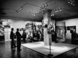 Artistically Arranged Family of Man Exhibit at the Museum of Modern Art Premium Photographic Print by Andreas Feininger