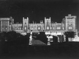 East Terrace of Windsor Castle at Night Enhanced by Floodlights Premium Photographic Print by Erich Salomon