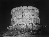 Round Tower of Windsor Castle at Night Premium Photographic Print by Erich Salomon