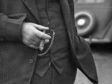 Torso of Police Chief Carl Pugh in Three-Piece Suit as He Holds Cigar, Hand and Watch Chain Visible Premium Photographic Print by Carl Mydans