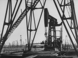 Baku Oil Fields at Azerbaijan Republic Premium Photographic Print by Howard Sochurek