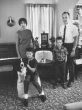 American Family Critical of Pres. Lyndon B. Johnson's Vietnam Policy Premium Photographic Print by Bill Ray