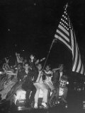 Hawaiians Celebrating Admission to US Premium Photographic Print by Leonard Mccombe